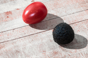 Tomato and truffle isolated