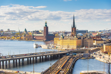 Stockholm city skyline in Sweden