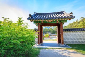Gyeongbokgung Palace in Seoul, South Korea, summer season