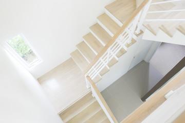 Foto op Plexiglas Trappen starcase with risers in a contemporary architect designed home