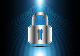 technology digital future abstract cyber security lock background