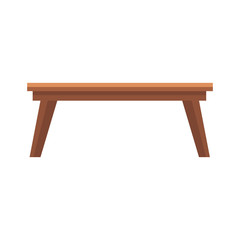 wooden table office furniture equipment icon