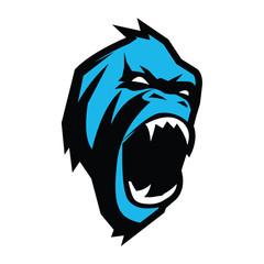 Gorilla Head vector logo design.