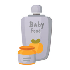 food for baby cartoon products set.