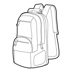 Travel backpack icon outline