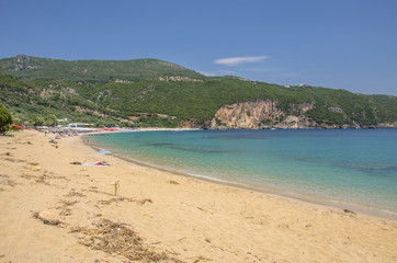 Beach scene - Lichnos Beach - Ionian Sea - Parga, Greece