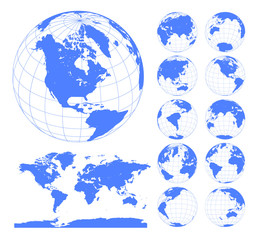 Buscar fotos por creadib globes showing earth with all continents digital world globe vector dotted world map vector gumiabroncs Image collections
