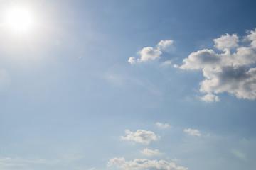 blue sky with cloud close-up