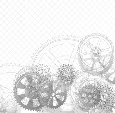 gears on a white