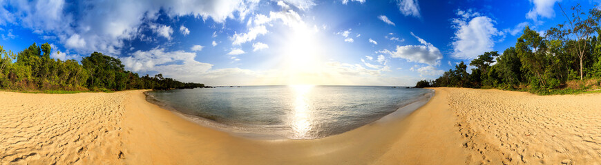 Beautiful 360 degree panorama at the beach of Masoala national park, Madagascar