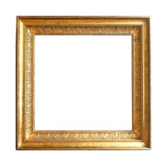 Gold square frame for pictures, mirrors or photos