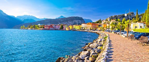 Lago di Garba town of Torbole panoramic view