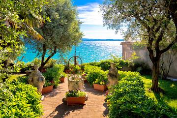 Mediterranean park on Lago di Garda view Wall mural
