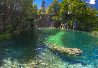 Waterfalls in National park Plitvice