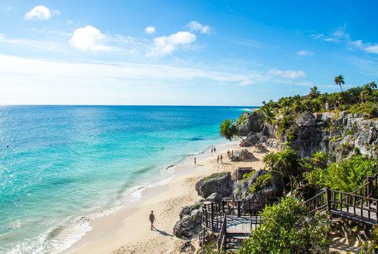 Wild Beach at Tulum - Riviera Maya in Mexico