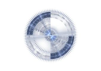 Modern blue crosshair illustration