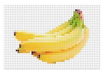 ドットで描いたバナナ