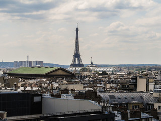 Cityscape of Paris with the Eiffel Tower in the background