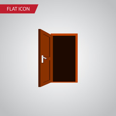 Isolated Frame Flat Icon. Approach Vector Element Can Be Used For Frame, Door, Approach Design Concept.