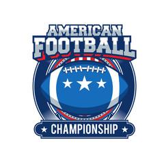 Vector label of american football