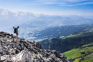 Alpiniste à la Pointe Percée