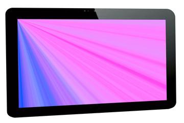 Tablet - PC mit Strahlenhintergrund
