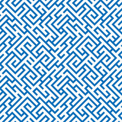 Abstract blue geometrical seamless pattern.