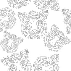 Abstract tiger pattern jungle tropical