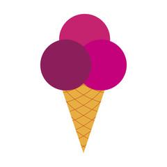Icon in flat design for restaurant Ice cream balls