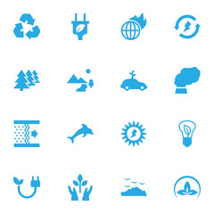 Set Of 16 Atmosphere Icons Set.Collection Of Cleaning, Fish, Warm And Other Elements.
