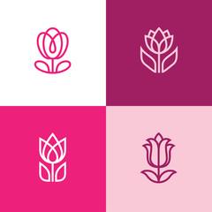 Four tulip icons