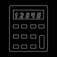 Calculator  the white path icon .