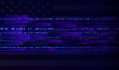 internet with american flag
