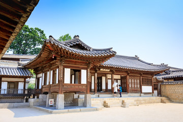 Changdeok Palace or Changdeokgung on Jun 17, 2017 in summer season, Seoul, republic Korea, Korea