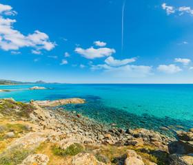 Santa Giusta beach on a sunny day
