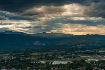 Aerial View mountain in Chiang Rai