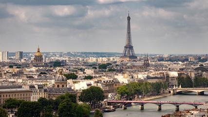 Paris skyline Eifel tower France