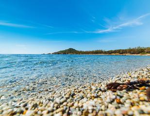 Pebbles in Porto Pirastu shore
