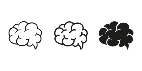 Set of brain icons. Vector