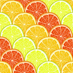 orange, lemon and grapefruit slices.