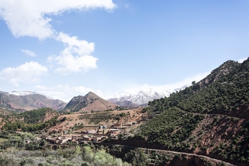 Atlas mountains and valley, Morocco