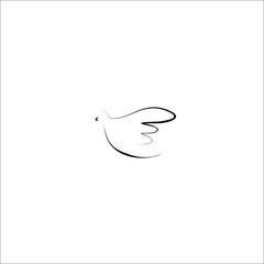 dove vector line icon
