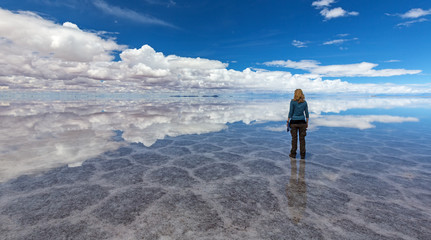 Reflection at Salt Lake Uyuni (bolivia)