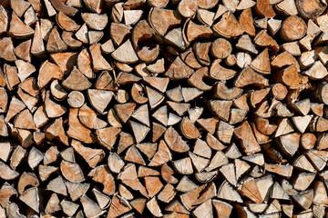 Holz Brennholz Holzstapel