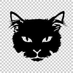 black cat silhouette tattoo