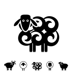 Sheep or Ram Icon or Logo
