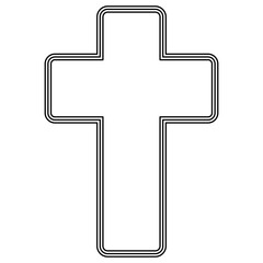 Church cross icon .