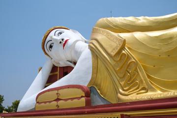 Big reclining buddha in Bodhi Tataung Temple, Monywa, Myanmar