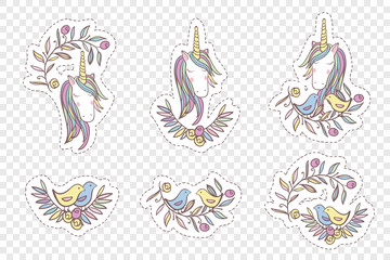 Unicorn Rainbow pattern - girls Stickers