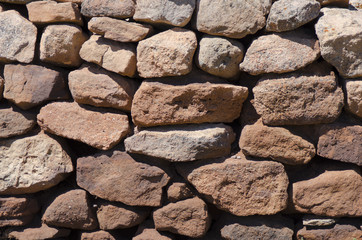 Stacked Rock Wall at Pecos National Historical Park
